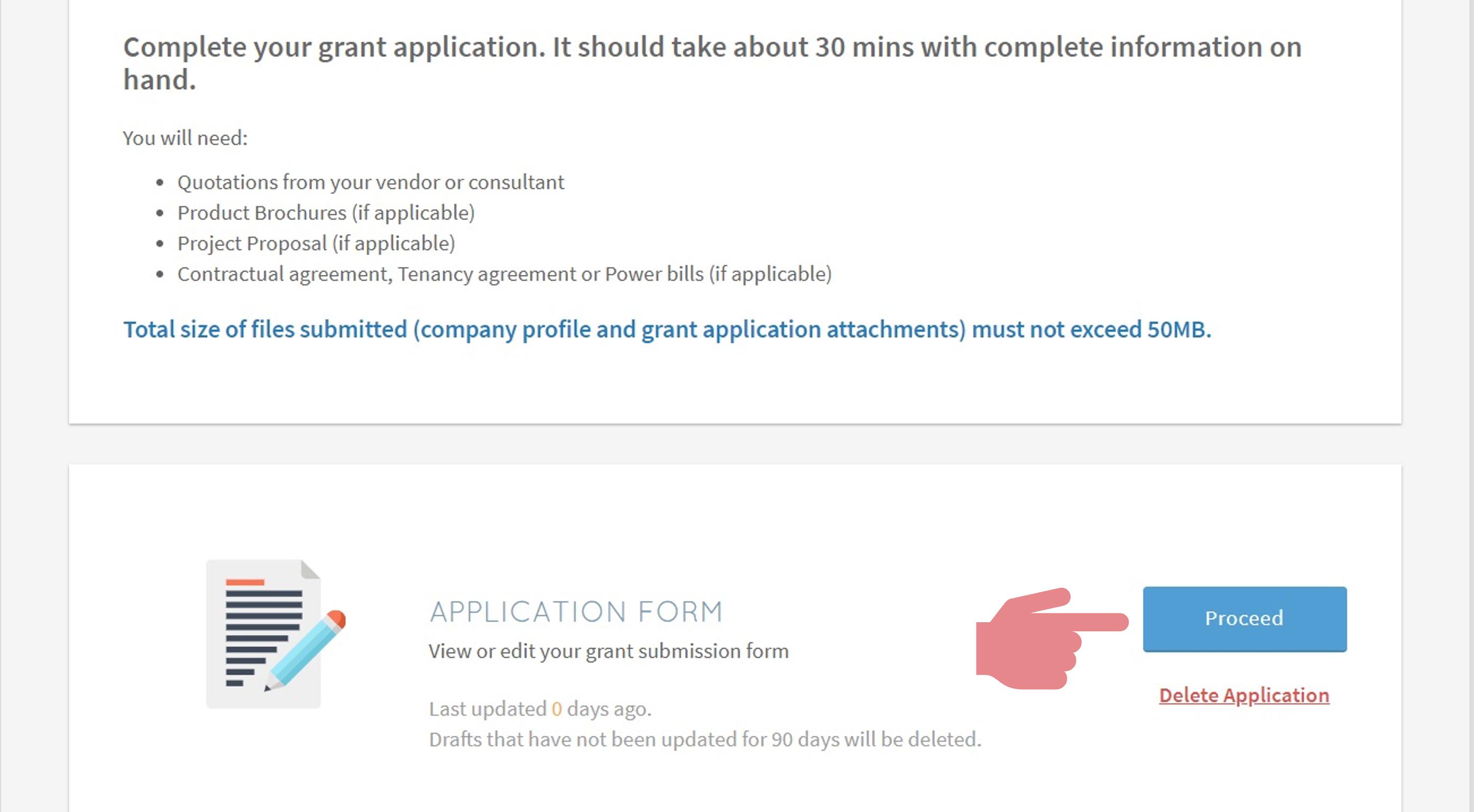 PSG application step 6